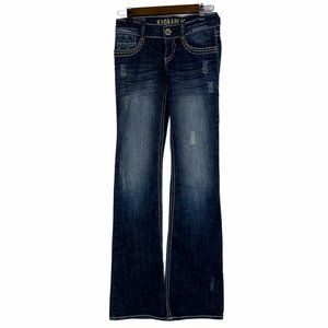 Hydraulic Metro Low Rise Boot Distressed Jeans 3 4